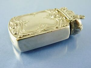 ROYAL CROWN TOP VESTA or MATCH SAFE SILVER PLATED BY unknown MAKER