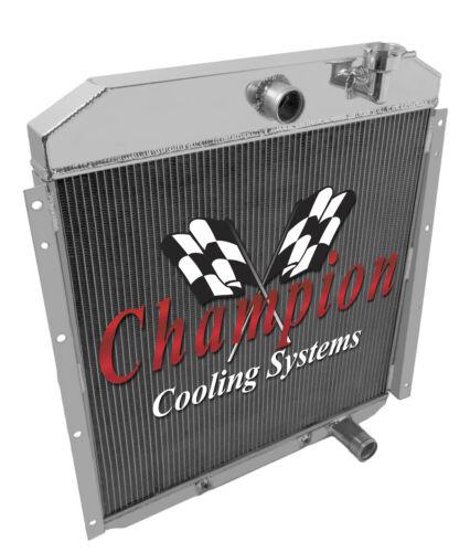 1955 1956 1957 1958 1959 GMC Truck 3 Row Champion Advanced All Aluminum Radiator