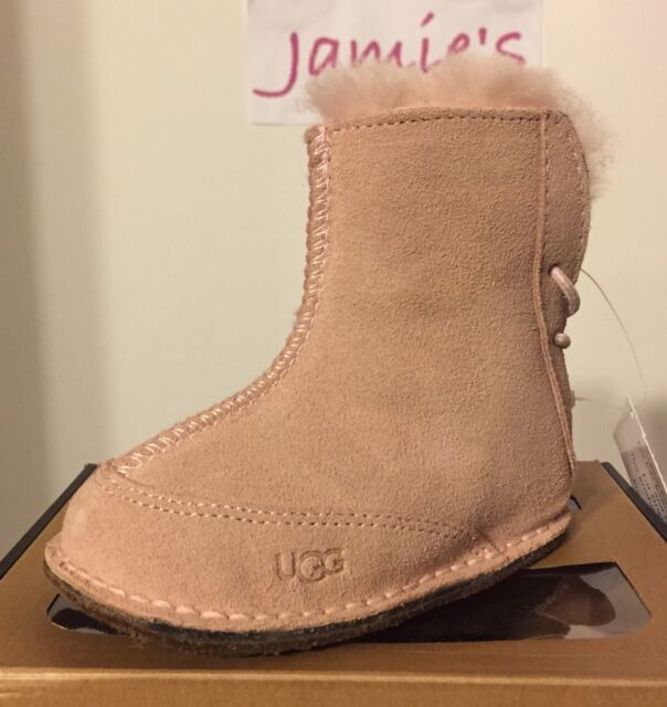 101be0791ce UGG Australia BOO Boot Booties Infant Baby Girl Shearling Sheepskin SUEDE  Pink
