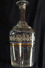 Carafe n°2) en verre avec de jolis motifs émaillés polychromes (ancienne)