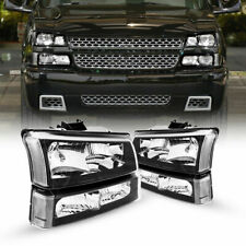 For 2003 2006 Chevy Silverado Black Housing Clear Side Headlightslamp Assembly Fits More Than One Vehicle