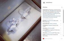 1.58 Carat D VS2 Round Cut - 18K White Gold Diamond Engagement Ring Matching Set