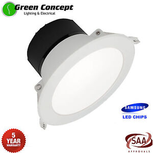 uk availability bcdc4 e60f1 NEW 10 x 13W SAMSUNG LED Downlight Kit FLAT FACE 90mm 4000K ...