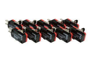 10-pc-TEMCo-Micro-Limit-Switch-Short-Roller-Lever-Arm-SPDT-Snap-Action-home-LOT