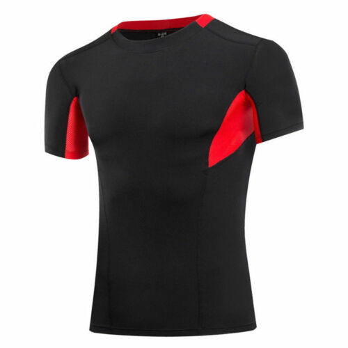 COMFY MEN SPORT WEAR GYM TOPS BOYS FITNESS BASE LAYER UNDER T-SHIRTS COOL C0760