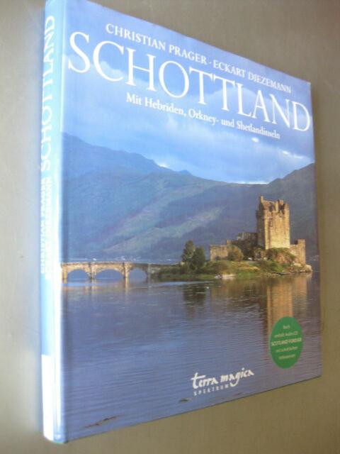 SCHOTTLAND schöner Bildband Prager u. Diezemann über Schottland mit Inseln u.CD
