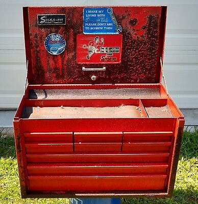 Snap On Red 9 Drawer Tool Box Top Chest With Key Included Ebay