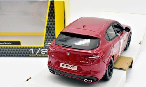 MODELLINO AUTO ALFA ROMEO STELVIO SCALA 1//24 CAR MODEL MINIATURE DIECAST BURAGO