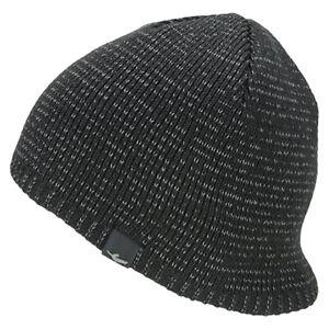 Black All Sizes Sealskinz Waterproof Cold Weather Headwear Beanie