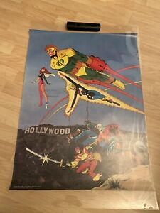 Vintage-1985-Jim-Aporo-85-DC-Comics-The-Outsiders-Geo-Force-Rare-Poster-30x22