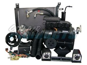 1967-1968-Ford-Mustang-289-w-o-PS-Cable-Operated-Air-Conditioning-AC-Heat-Kit