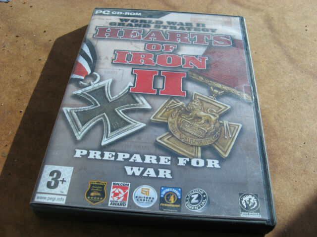 "Pc Hearts of Iron II ""Se préparer à la guerre"" brocante Windows 98/ME/2000/XP."