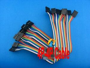 10pcs-2-54mm-20cm-Dupont-wire-cable-4p-4p-pin-Connector-For-Arduino-Female-Femal