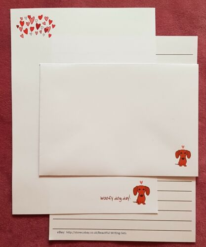 set 6 Woofy Dog Day Letter Writing Paper /& Envelopes series