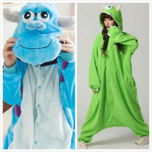 cdabe2362964 Image is loading Adult-Monsters-University-Mike-Wazowski -sulley-Monsters-Kigurumi-