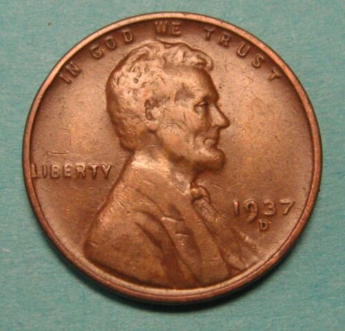 1937-D Lincoln Wheat Cent in Average Circulated Condition DUTCH AUCTION