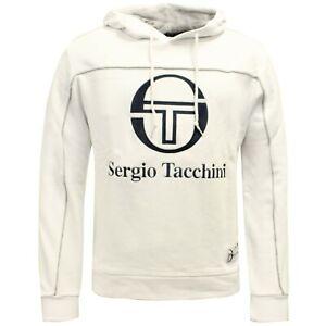 Détails sur Sergio Tacchini sol Sweat À Capuche Homme Pull Sweat 37865 108 X6A afficher le titre d'origine