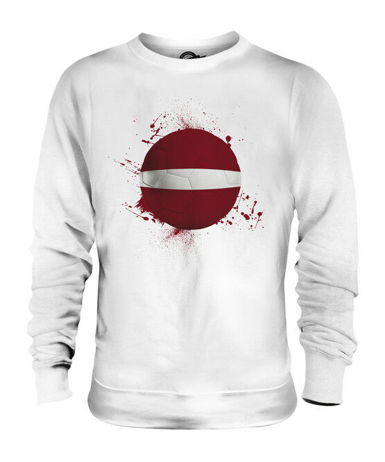 LATVIA FOOTBALL UNISEX SWEATER  TOP GIFT WORLD CUP SPORT