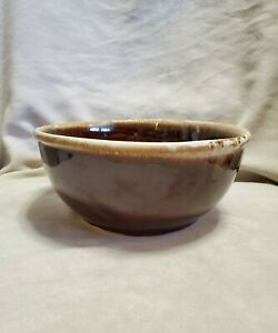 """McCoy Pottery USA Brown Drip 7 1/4""""  Mixing Bowl 7027 Vintage Mid-Century Modern"""