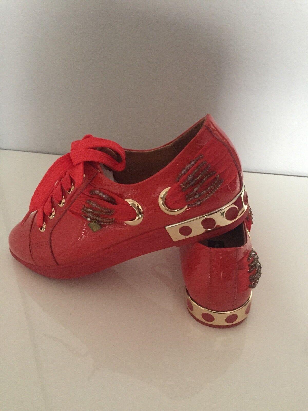 New Unique I love love love Fashion Sneakers ROT Größe 6 e848ef