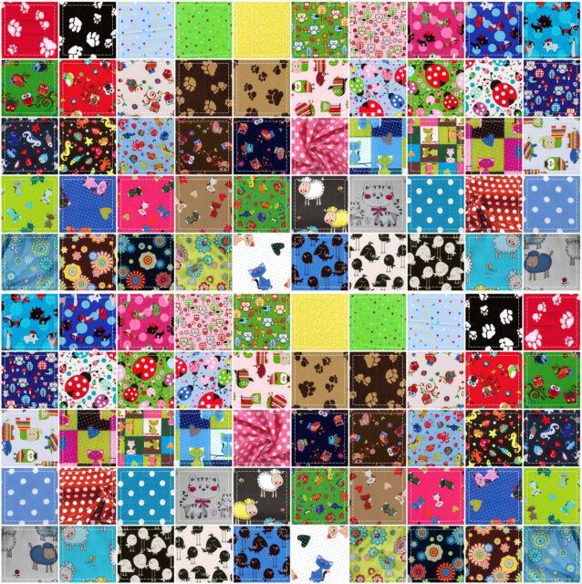 Baumwollstoff Meterware ab 50 cm / 65 Farben 16 Designs Quilt 100% Baumwolle