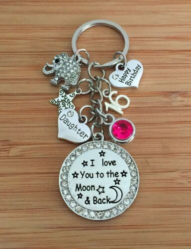 Personalised BIRTHDAY Gift Elephant keyring for Mum Sister Nanny Friend Daughter
