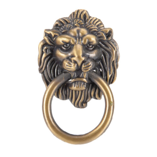 vintage lion head furniture door pull handle knob cabinet dresser drawer riF Jz