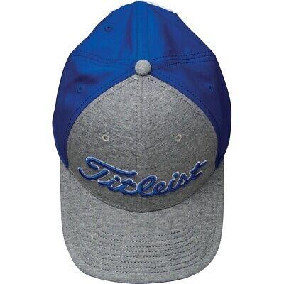 NEW Titleist Tour Performance Jersey Adjustable Blue//Heather Grey Hat