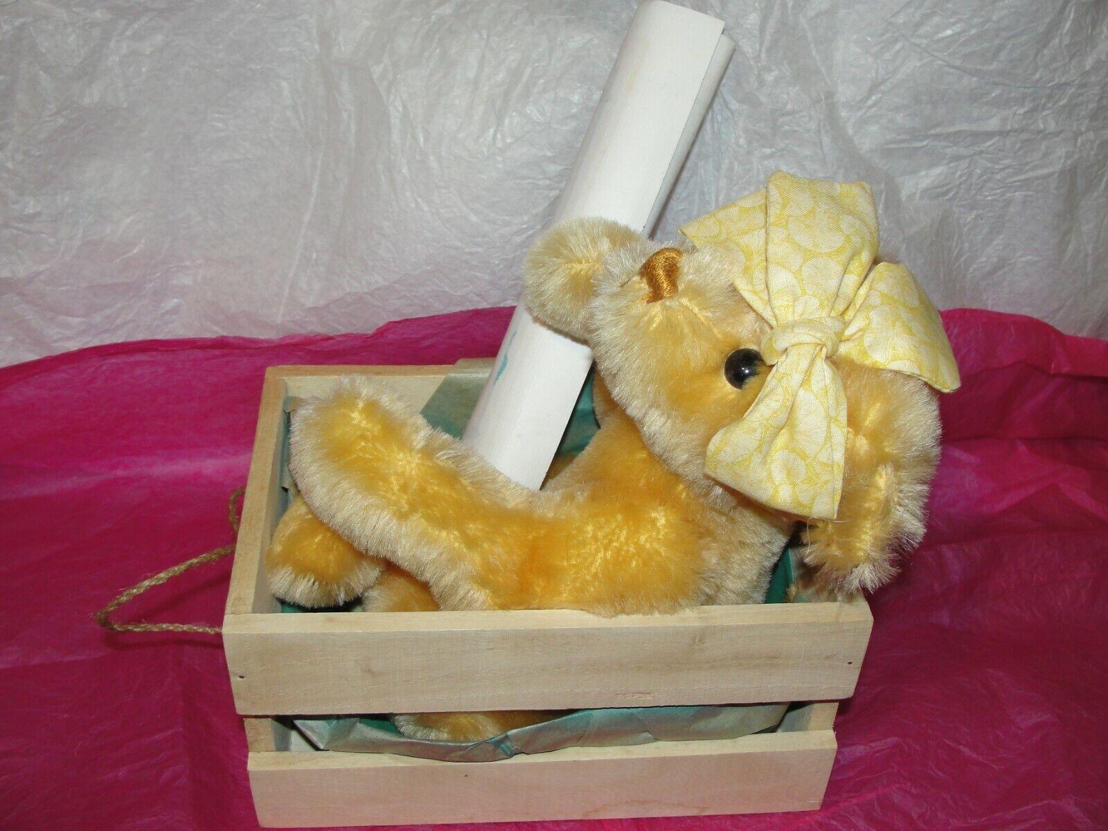 TEDDY BEAR - MERRYTHOUGHT LEMON SORBET