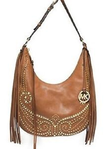 Image Is Loading New Michael Kors Rhea Studded Md Slouchy Shoulder