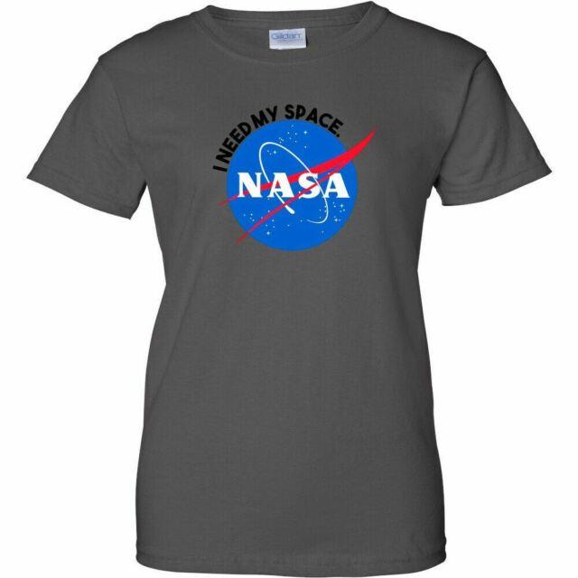 NASA Vintage Worm Logo Womens T Shirt Ladies Space Shuttle UFO Mars Retro Tee