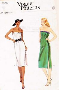 Vintage-Vogue-7370-Strapless-Side-Button-High-Slit-Wrap-Dress-Sewing-Pattern-10