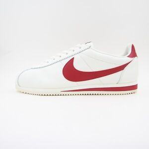 a5d73d5399c3 New Mens Nike Classic Cortez Leather SE Sail Gym Red Trainers UK ...