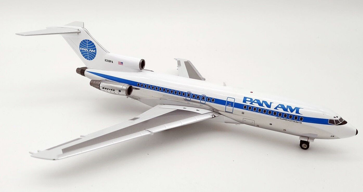 INFLIGHT 200 IF721PA02 1 200 PAN AM BOEING 727-100 N318PA WITH STAND