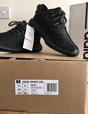 809a2496b8bc1 Adidas x Kanye West-Yeezy Boost 350 Pirate Black 2016 Release UK9  100%Authentic