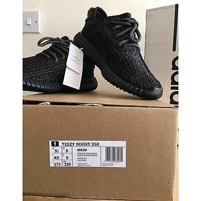 Adidas x Kanye West-Yeezy Boost 350 Pirate Black 2016 Release UK9  100%Authentic