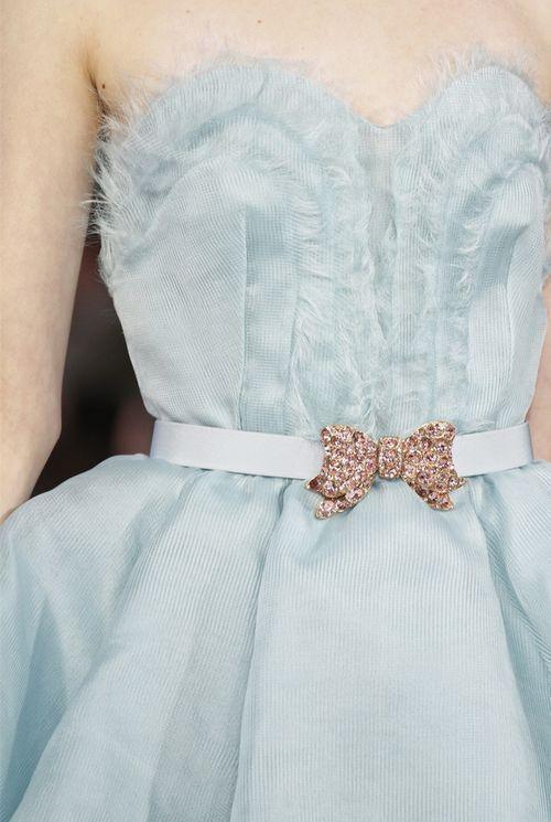 NEW with TAGS Oscar de la Renta Belt Buckle Jeweled Bow Pale Pink