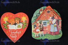 2 Stück alte Weihnachtsmotive DDR  Obladen  - war früher auf Lebkuchen geklebt