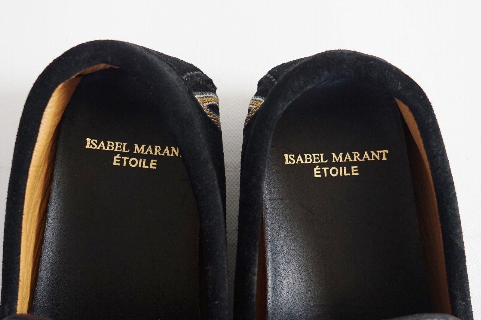 Nuevo Isabel Marant Etoile  finha finha finha  Negro Bordado Mocasines Mocasín 35 US-5 78c31d
