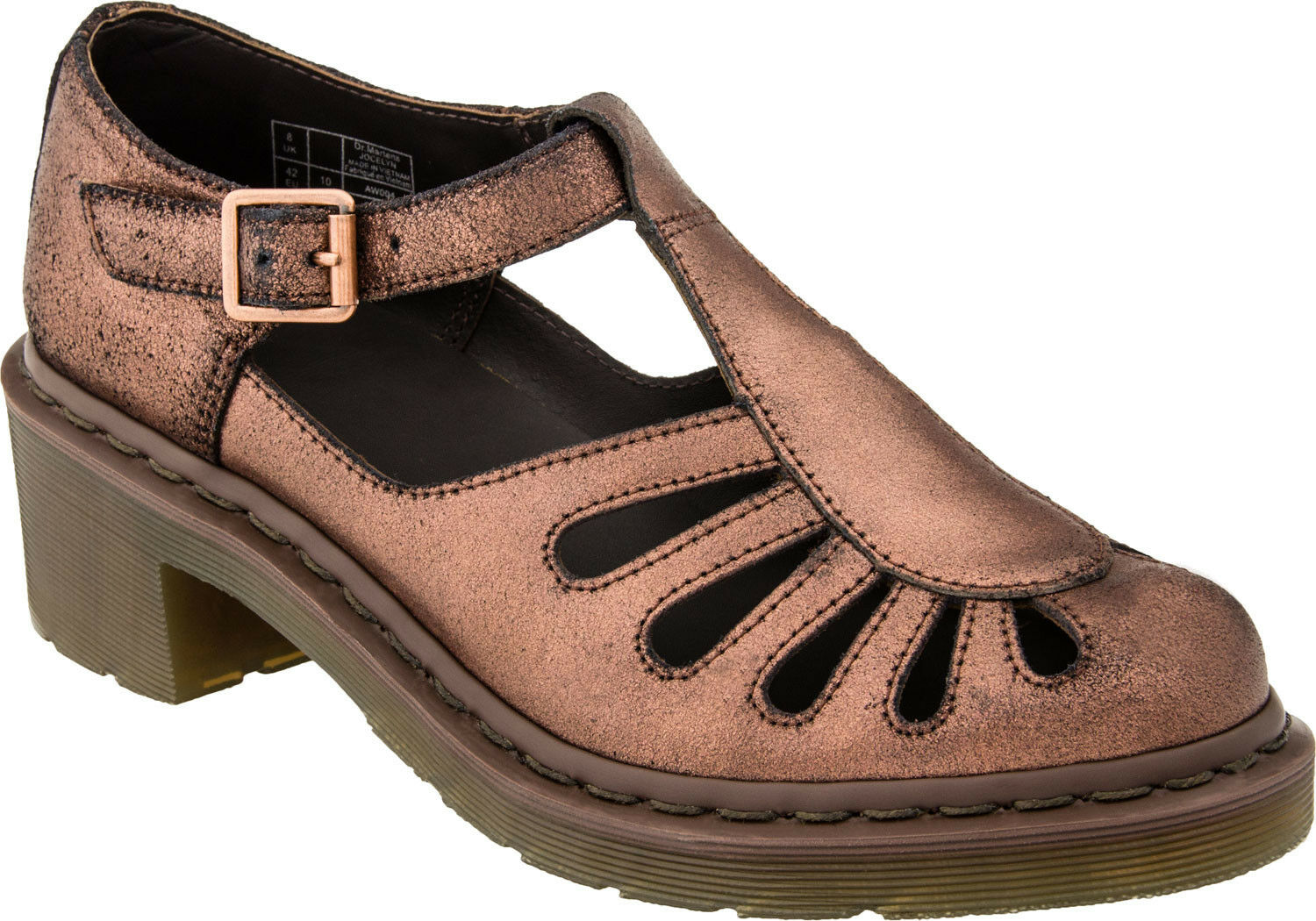 Dr. Martens donna`s donna`s donna`s Jocelyn T-Bar Sandal Copper Leather US 8 EU 39 LAST  286e8b