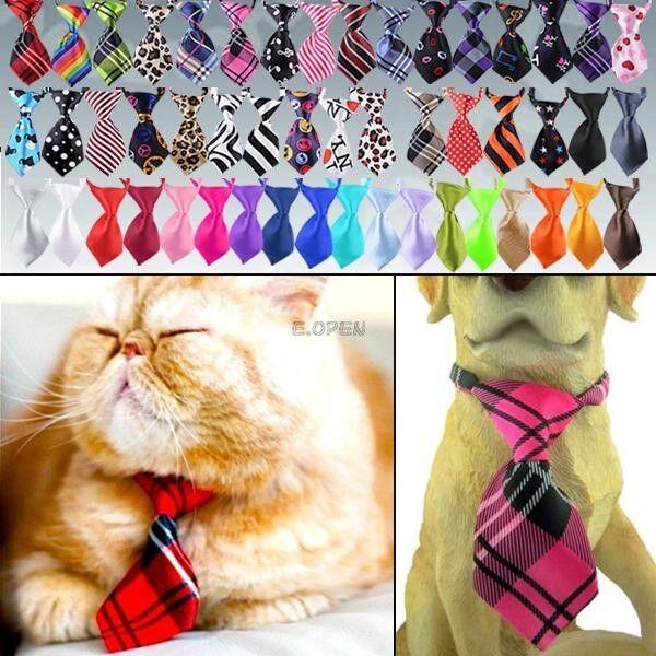 "Cute Pet Dog Cat Tie Bow Necktie Clothes Collar 8-20"" neck"