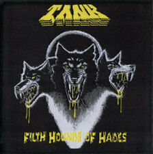TANK-FILTH HOUNDS OF HADES-WOVEN PATCH-NWOBHM-RARE