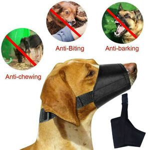 Pet-Dog-Muzzle-Mouth-Cover-Basket-Anti-Barking-Biting-Chewing-Adjustable-Safety