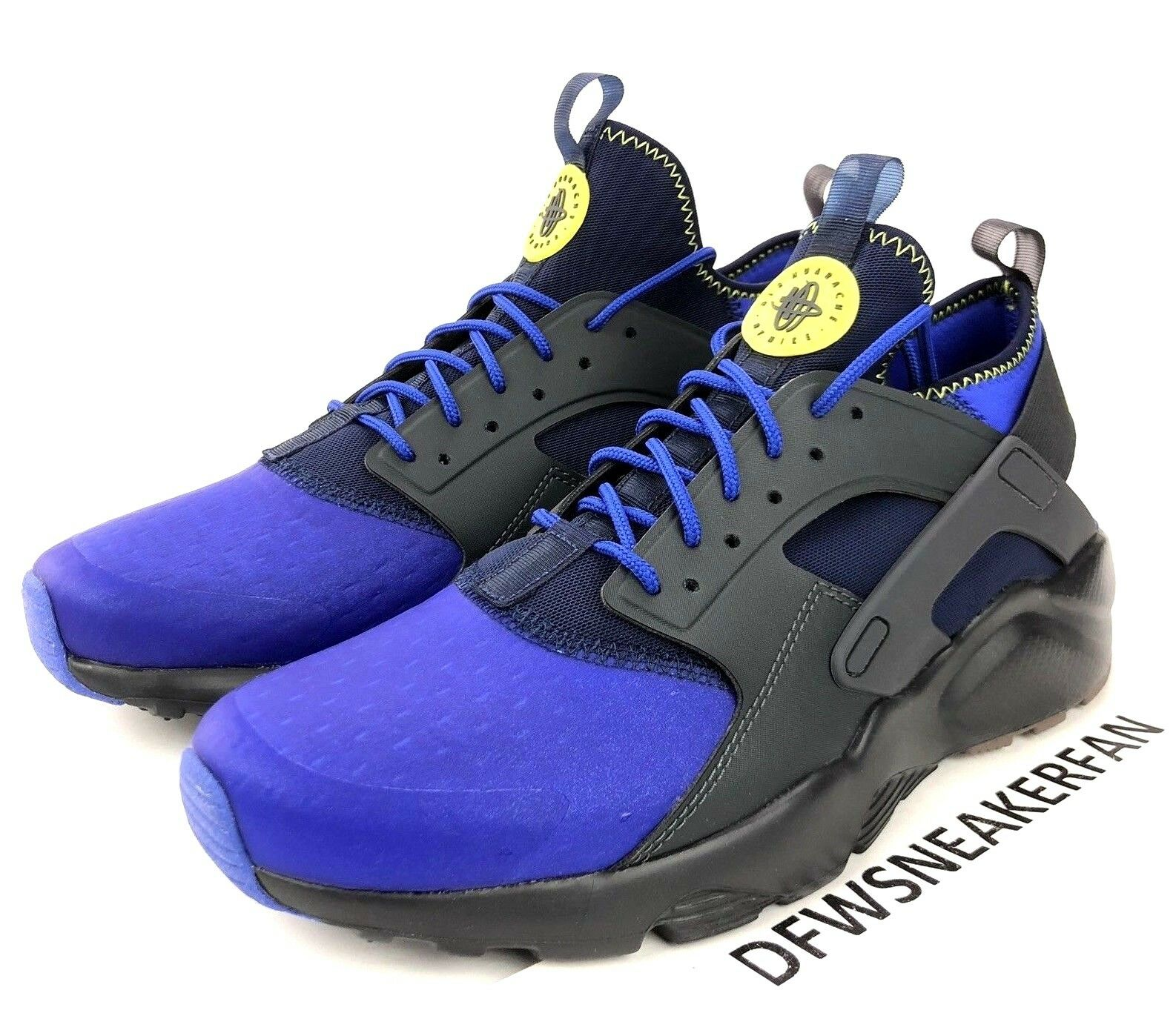 Nike Air Huarache Run Ultra SE Men's Size 10.5 Anthracite Para blueee 875841-001