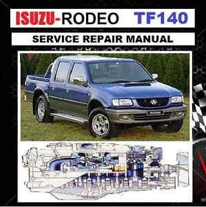 isuzu holden rodeo tf 140 1988 2003 repair service manual cdrom ebay rh ebay com au Parts Manual Manual Book