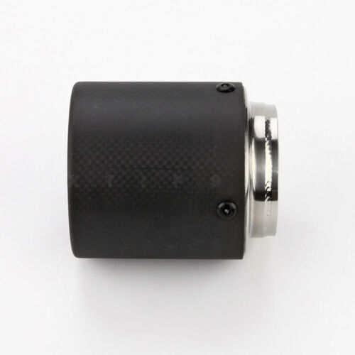 Black Carbon Fiber Exhaust Tip 2 1//2 inch Inlet 3 1//2 Out 4 Long Straight Cut