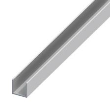 C U section, gutter, profile, glazing,edging Aluminium Channel║19x19 mm║