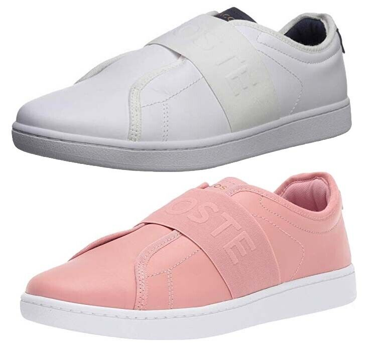 Lacoste Carnaby Evo 318 4 Womens Pink Suede Casual Trainers