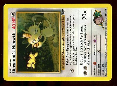 Uncommon Gym Challenge 43//132 GIOVANNI'S MEOWTH Pokemon Card NM