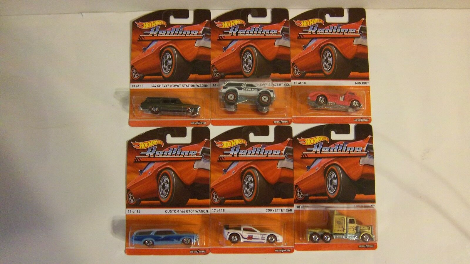 Hot Wheels Redline (Lot of 6) of 18 thru  of 18